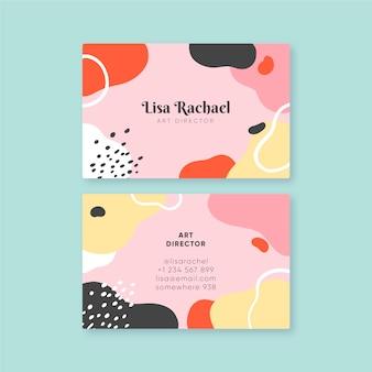 Абстрактный окрашенный шаблон для визитной карточки
