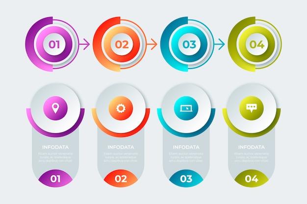 プロのビジネスインフォグラフィックグラデーションデザイン
