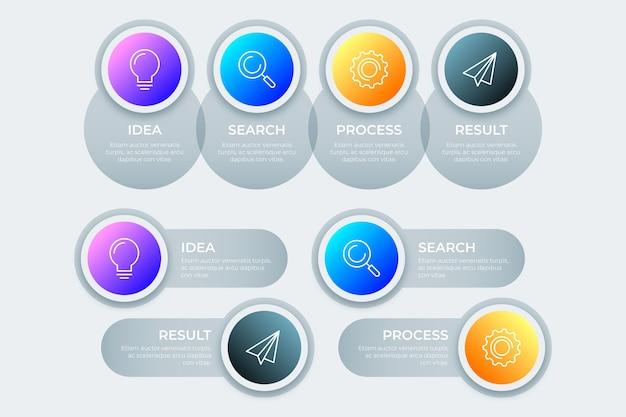 プロのインフォグラフィックグラデーションデザイン