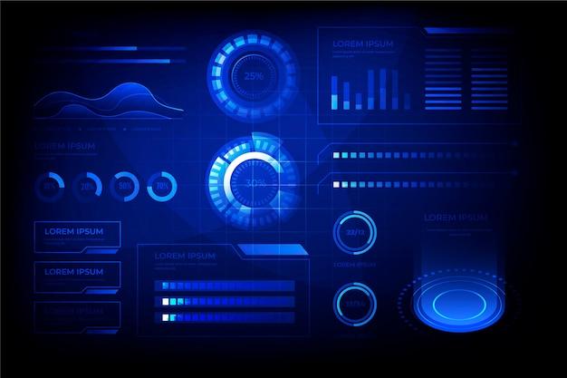 プロのインフォグラフィックの未来的なデザイン