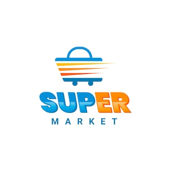 Супермаркет бизнес логотип шаблонов