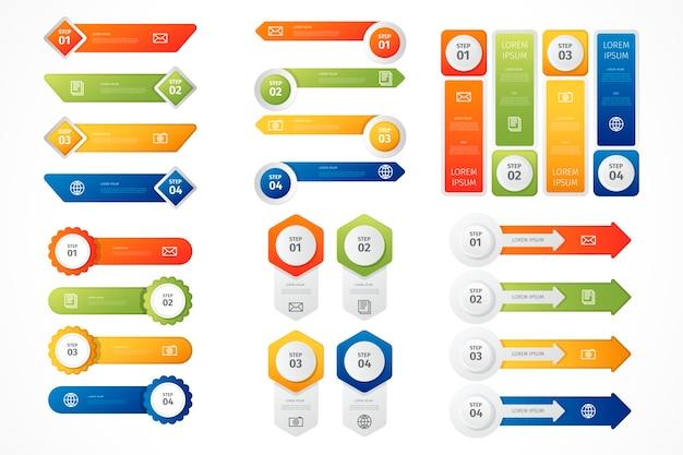 Коллекция инфографики элементов