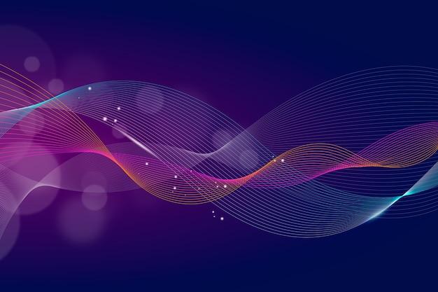 Волнистые фиолетовые обои