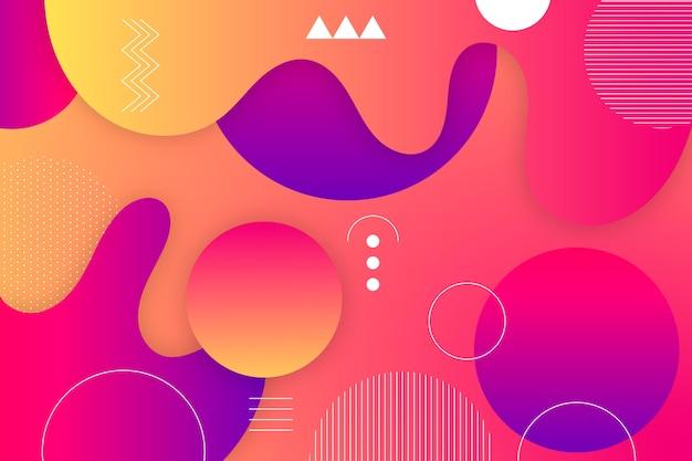 Красочный градиент абстрактный фон