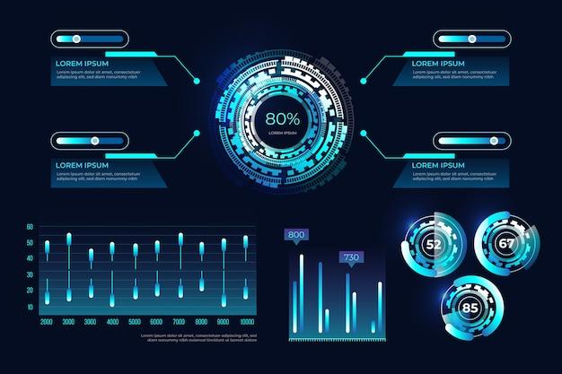 未来的なインフォグラフィックテンプレート