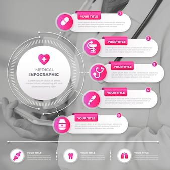 Медицинская инфографика с изображением