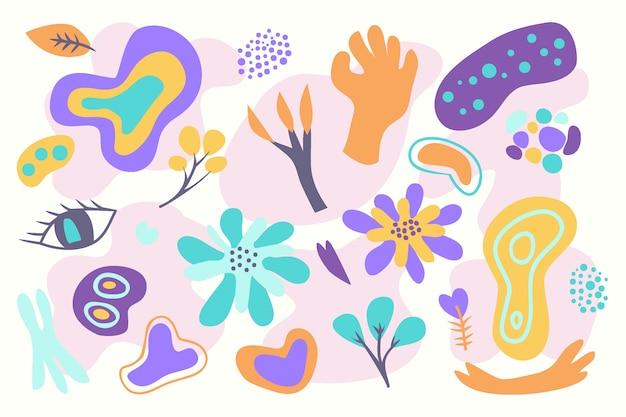 Ручной обращается абстрактные органические формы фон