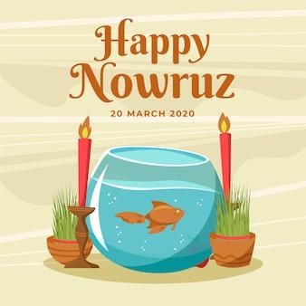 Нарисуй счастливый новруз и поговори с рыбой