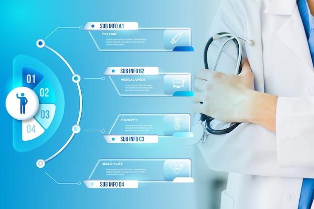 Медицинская инфографика с фотографией