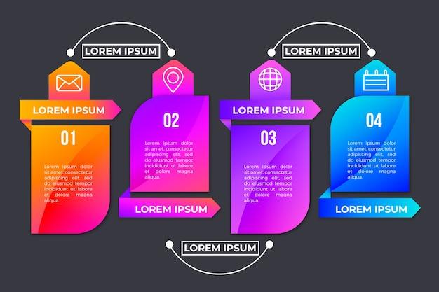 Концепция эволюции градиента инфографики