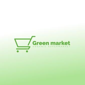 スーパーマーケットのロゴデザイン