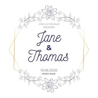 Свадебная цветочная рамка торжества
