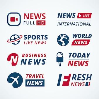 Концепция коллекции логотипов новостей