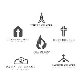 Коллекция шаблонов логотипа церкви