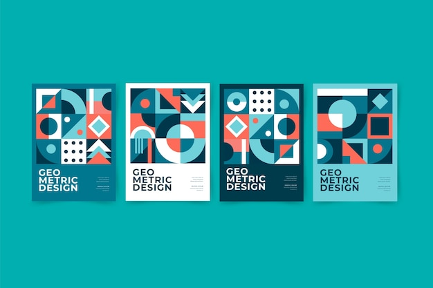 Обложка графического дизайна в стиле баухауз
