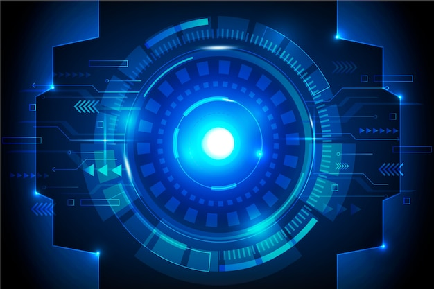 Футуристический кибер-глаз технологии фон
