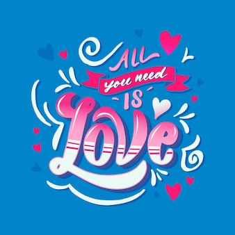 Надписи все, что вам нужно, это любовь