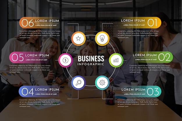 Бизнес инфографики с фото