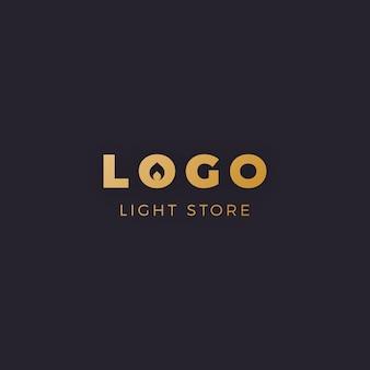黄金のミニマリスト家具ロゴ