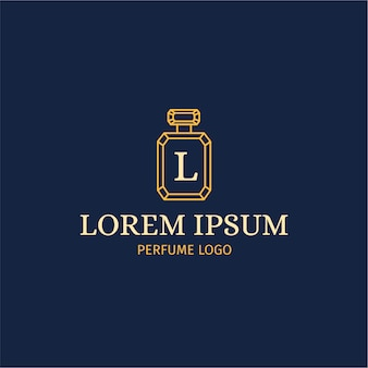 Парфюмерный логотип с роскошным стилем