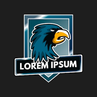 Талисман дизайн логотипа с орлом