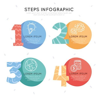 Пакет шагов инфографики