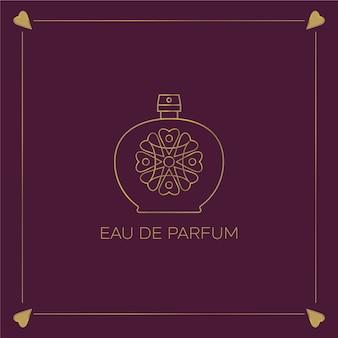 Цветочный дизайн для парфюмерного логотипа