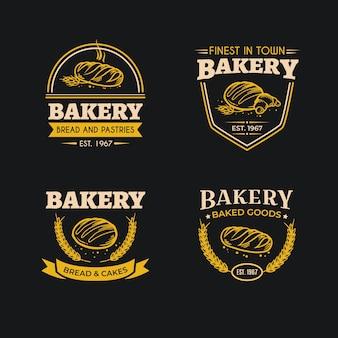 パン屋さんのロゴのレトロなデザイン