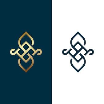 Золотой логотип в двух версиях