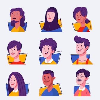 Набор людей аватары
