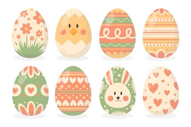 手描きイースターの日卵コレクション