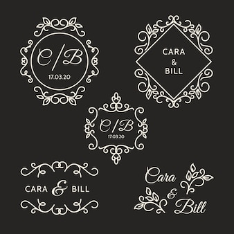 Элегантные свадебные логотипы