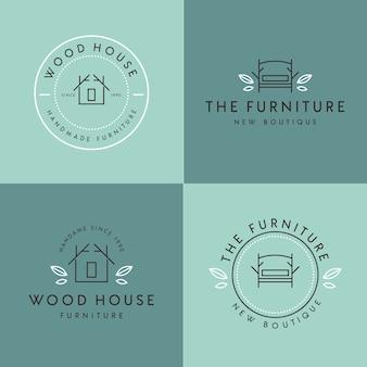 家具のロゴミニマリストデザイン