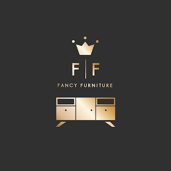 Мебель логотип элегантный стиль