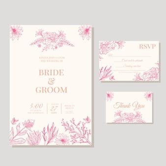 Элегантное цветочное свадебное приглашение