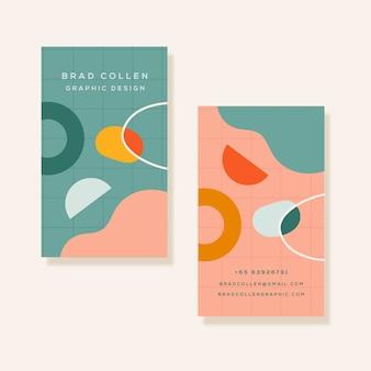 Красочная визитная карточка с различными формами
