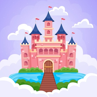 魔法のおとぎ話の城