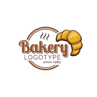 Пекарня логотип с круассаном