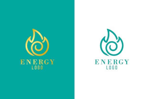 異なるバージョンの抽象的なロゴ