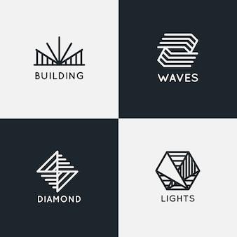 Коллекция абстрактных линейных логотипов