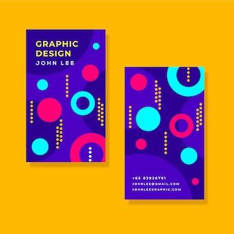 会社情報カードの抽象的なデザイン