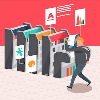 デジタル印刷の概念図