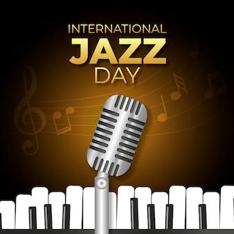現実的な国際ジャズの日のコンセプト
