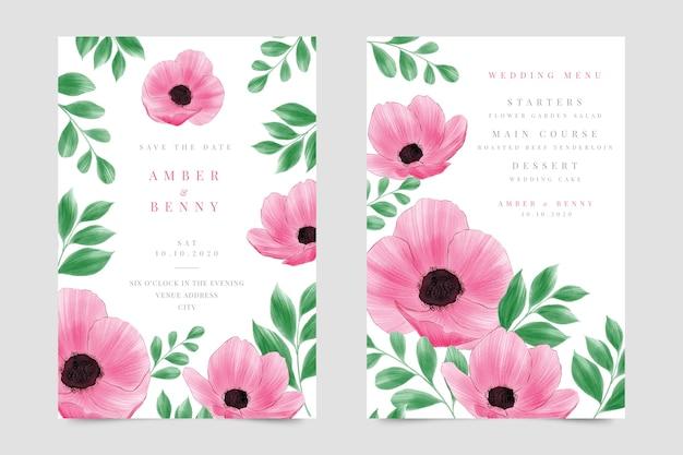 Свадебные приглашения с акварельными цветами