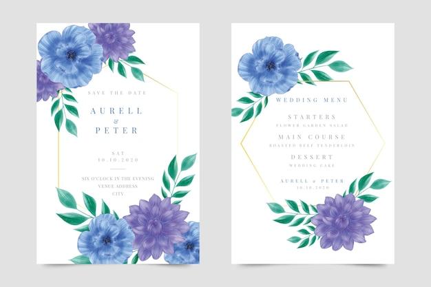 Прекрасный шаблон свадебного приглашения