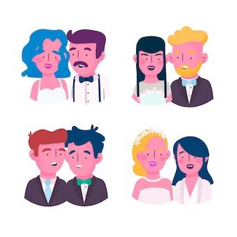 結婚式のカップル