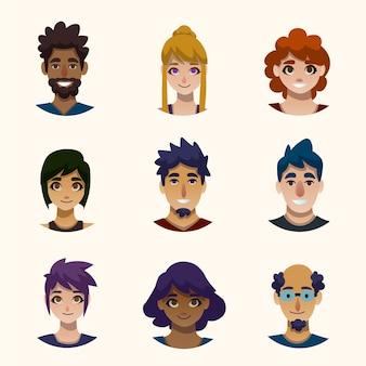 Концепция иллюстрации аватары людей