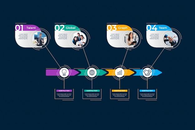 Инфографики шаблон с фотографией