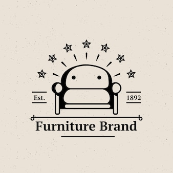 Минималистичный ретро-логотип мебели