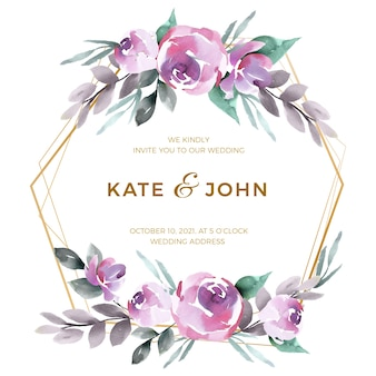 Красивая свадебная цветочная рамка